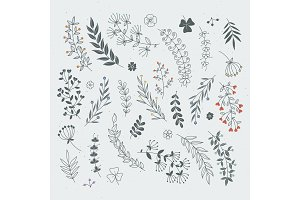 Decorative floral elements for