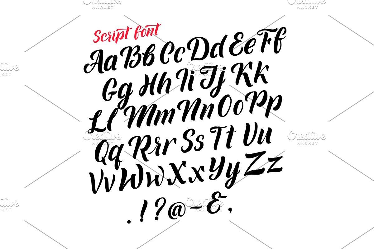 Handwritten latin alphabet. Cursive ~ Graphics ~ Creative Market