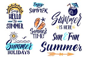Vector text letters for summer time