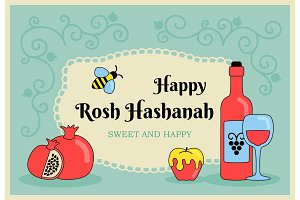 Card for Jewish new year holiday