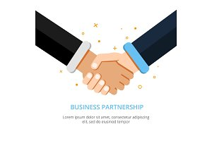 Businessman shaking hands. Vector