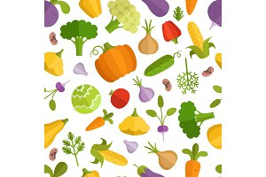 Vegetables cartoon illustration