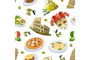 Food of italy cuisine. Illustration