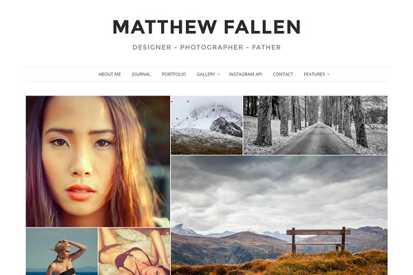 WordPress Photography Themes: VSThemes - Ella - Photography Wordpress Theme