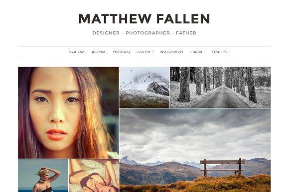 Ella - Photography Wordpress Theme