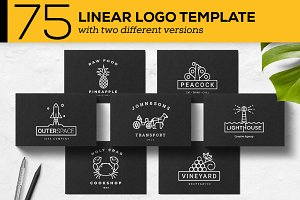 75 Linear Logo Templates