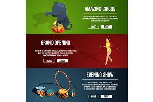 Invitation to the circus magic show