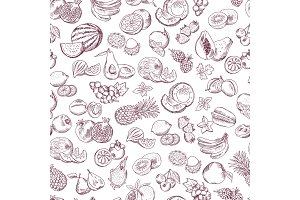 Vector seamless pattern of doodle