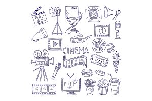 Cinematography doodle set. Video