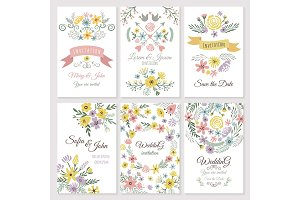 Floral design of wedding invitation