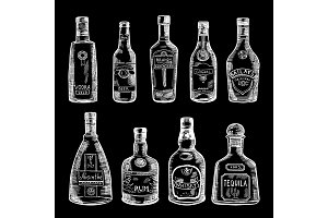 Hand drawn illustration of different