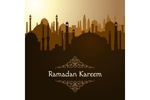 Ramadan. Arabic mosque background