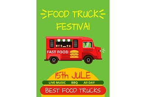Banner or menu for food truck