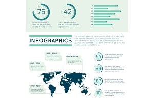 World map infographic concept with