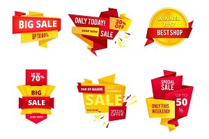 Special offer abstract banners, big