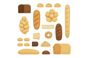 Bakery products. Vector illustration