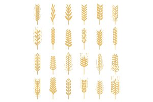 Agricultural vector icons set