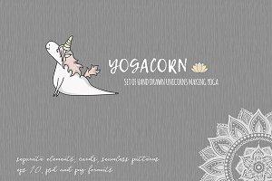 Unicorn yoga set