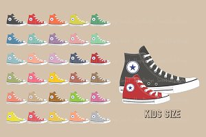 Sneakers Clipart Kids Size