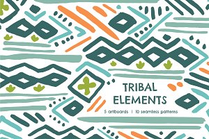 Tribal Element | Seamless Patterns
