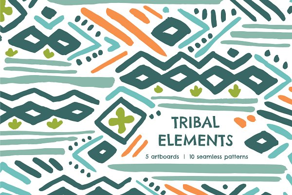 Patterns - Tribal Element | Seamless Patterns