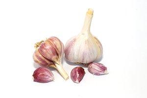 A garlic bulbs isolated on white.