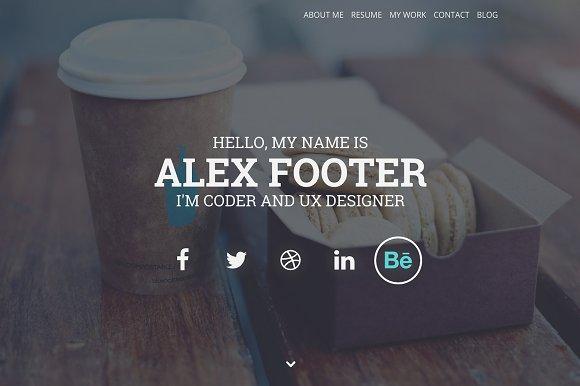 Nitteo Wordpres - One Page Portfolio