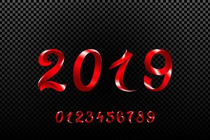 vector new year 2019 symbol number