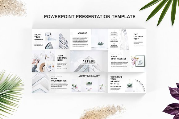 arcade powerpoint template presentation templates creative market