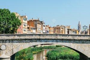 Girona Bridge on River Onyar, Spain