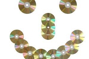 CD discs smile.