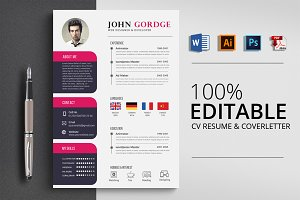 Stylish Word CV Resume Template
