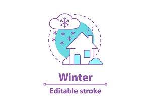 Winter season concept icon