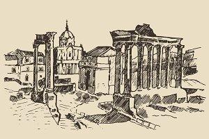 Roman Forum, Ruins in Rome