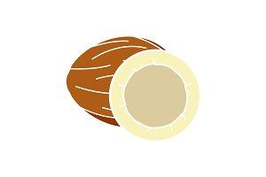 Coconut glyph color icon