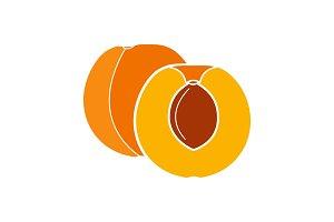Apricot glyph color icon