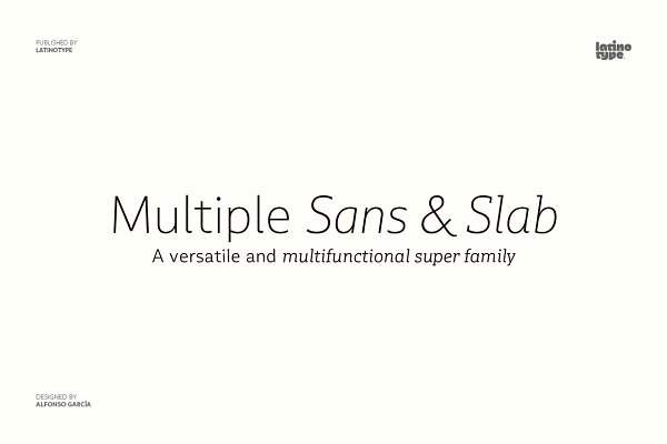 Sans Serif Fonts: Latinotype - Multiple - Intro Offer 85% off