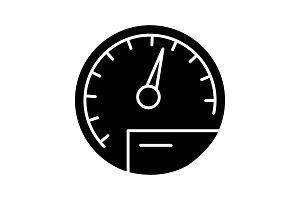 Speedometer glyph icon