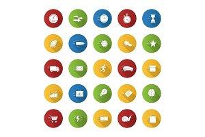 Motion icons set