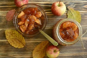 Homemade apple jam