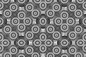 Modern Rosette Seamless Pattern Mosa