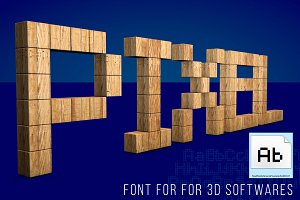 MS Pixelated Font for 3D Apps