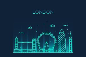 London (England) city skyline