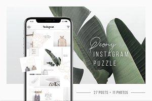 Peony Instagram Puzzle + 11 Photos