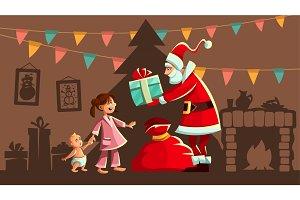 Christmas holiday. Santa Claus