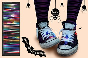 Witchy Socks & Shoes Ai Swatches
