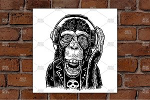 Monkey rocker headphones
