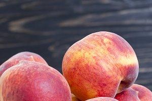 ripe large peaches