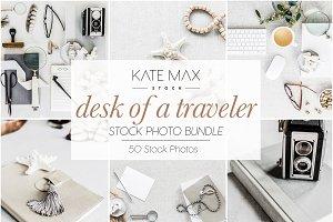 Desk of a Traveler Stock Photo Bundl