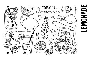 Lemonade Illustrations Clipart